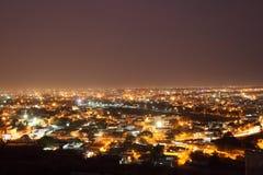 Hyderabad på natten Royaltyfri Bild