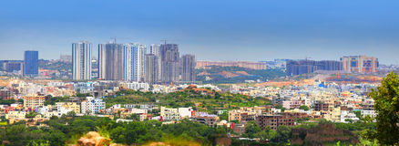 Hyderabad skyline. HYDERABAD INDIA - August 29 : Hyderabad is fifth largest contributor city to India's GDP with US$74 billion . On August 29,2012 Hyderabad Royalty Free Stock Photography