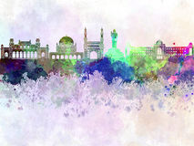 Hyderabad skyline in watercolor Royalty Free Stock Images