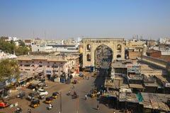 Hyderabad stadingång för den de Charmig monumentet Royaltyfria Bilder