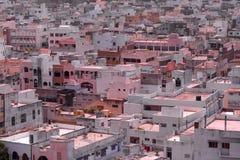 Hyderabad-Vororte in Indien Stockfotografie