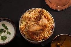 Hyderabadi Biryani Fotografie Stock Libere da Diritti