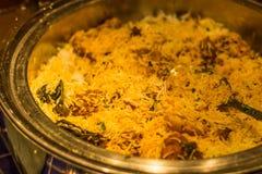 Hyderabadi biryani meal Royalty Free Stock Images