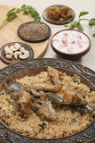 Hyderabadi Biryani - A  Popular Chicken or Mutton based Biryani. Hyderabadi Biryani - is perhaps the most well-known Non-Vegetarian culinary delights from the Royalty Free Stock Image