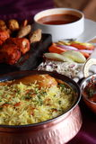 Hyderabadi Biryani - uma galinha ou uma carne de carneiro popular basearam Biryani Foto de Stock
