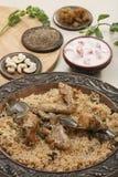 Hyderabadi Biryani - uma galinha ou uma carne de carneiro popular basearam Biryani Imagem de Stock Royalty Free