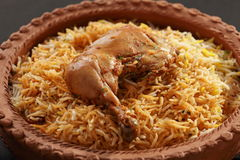 Hyderabadi Chicken Biryani Royalty Free Stock Images