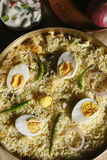 Hyderabadi egg biryani Stock Image