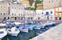 Landscape of Hydra island Saronic gulf Greece Royalty Free Stock Photo