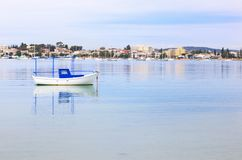 Landscape of Hydra island Saronic gulf Greece stock photo