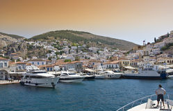 Hydra Island royalty free stock images
