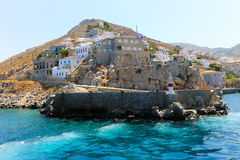 Hydra Island Castle , Greece Stock Photos
