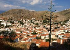 Hydra island. View from the top of Hydra island, Greece Royalty Free Stock Photo