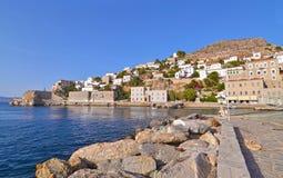 Hydra landscape Saoric Gulf Greece Stock Image