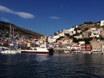 Hydra Marina. Marina in Hydra Island, Greece Stock Photo