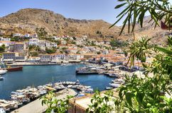 Hydra panorama Stock Photos
