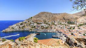 Hydra panorama Royalty Free Stock Photo