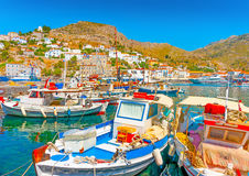 Hydra's pictorial port Stock Photo