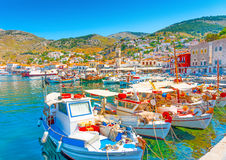Hydra's pictorial port Royalty Free Stock Image