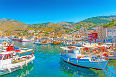 Hydra's pictorial port Royalty Free Stock Photography