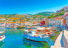 Hydra's pictorial port Royalty Free Stock Images
