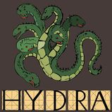 Hydra with title Royalty Free Stock Photo