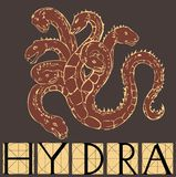 Hydra with title Royalty Free Stock Photography