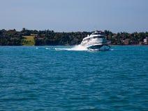 Hydrafoil on Lake Garda Stock Photo