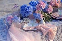Hydrangea azul Foto de archivo libre de regalías