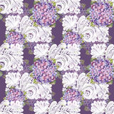 Hydrangea bouquet, white decoration, watercolor, pattern seamless Stock Photography