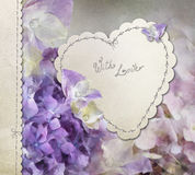 Hydrangea card Royalty Free Stock Photography