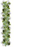Hydrangea floral border design Stock Images