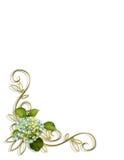 Hydrangea Floral Corner Design Royalty Free Stock Photo
