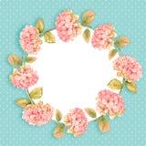 Hydrangea floral wreath Royalty Free Stock Photo