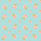 Hydrangea flower in bloom - seamless pattern Royalty Free Stock Images