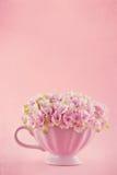 Hydrangea flowers in a shabby chic mug Stock Photos