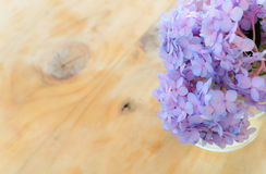 Hydrangea in a glass vase Royalty Free Stock Photography