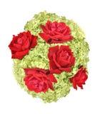 Hydrangea hortensia en rozen Stock Fotografie