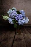 Hydrangea hortensia's in de vaaslente Royalty-vrije Stock Afbeelding