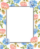 Hydrangea and jasmine floral background Stock Photography