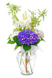 Hydrangea and lily flower bouquet Stock Photos