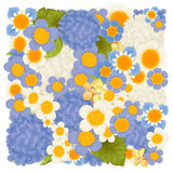 Hydrangea , periwinkle , hyacinth blue floral background. Vector file EPS10 stock illustration