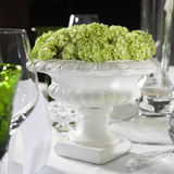 Hydrangea in a plaster vase is a  table decoration Royalty Free Stock Photo