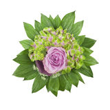 Hydrangea and rose bouquet Royalty Free Stock Image