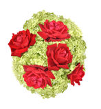 Hydrangea and roses. Are collected in a bouquet Stock Photography