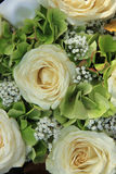 Hydrangea and roses bridal bouquet Royalty Free Stock Photography