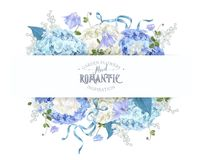 Hydrangea spring composition Stock Image