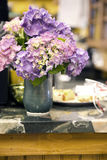 Hydrangea in Vase Royalty Free Stock Images