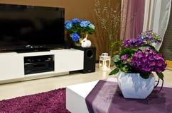 Hydrangeas decorating room  Royalty Free Stock Image
