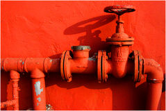 Hydrant. Red Hydrant stock photo